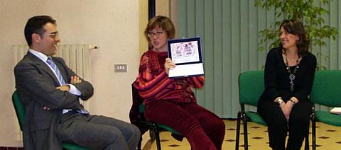 Un momento della presentazione del libro con Antonella Cilento e Marilena Lucente