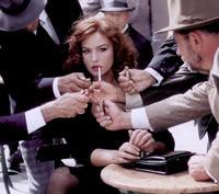 Una scena del film Malena di Giuseppe Tornatore